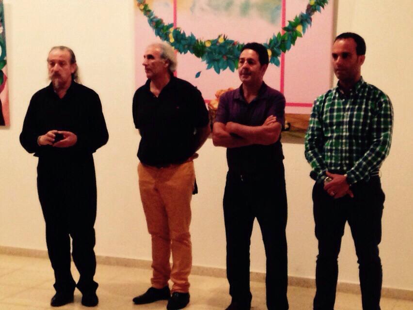 Cangas Decide asiste o pregón da Mostra Internacional Cómico e a Exposición de Xosé Mitra e Moleiro